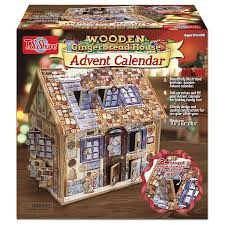 com t s shure wooden gingerbread house advent calendar toys