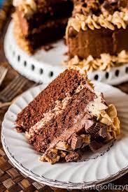 chocolate peanut er reese s cake is a moist from scratch chocolate cake with peanut er