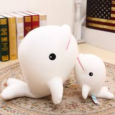 cute beluga whale doll cloth doll gift birthday gift s 35cm 55cm 65cm