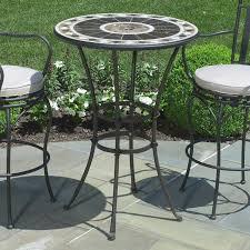 round metal patio furniture elegant post