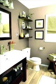 floating shelves over toilet bathroom
