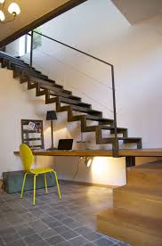 Open stair with internal workspace