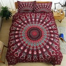 boho quilt set bohemian style luxury mandala bedding set twin queen king size comforter duvet quilt