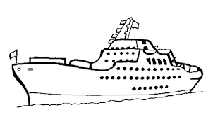 Cruise Ship Coloring Page Rowboat On The Lake Coloring Page Coloring