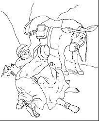Good Samaritan Coloring Page Combined With The Good Coloring Pages