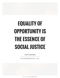 Social Justice Quotes Mesmerizing Equality Of Opportunity Is The Essence Of Social Justice Picture