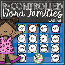 R Controlled Word Families Pocket Chart Literacy Centers Activities