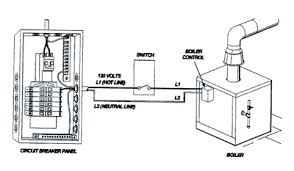 wiring basics for residential gas boilers figure 4 boiler to circuit breaker wiring diagram