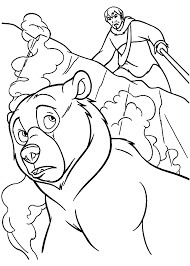 Kenai Brother Bear Coloring Pages For