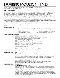 Resume Special Skills Adorable James R Moulton II MD Resume Special 48