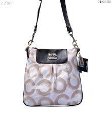 Coach Fashion Logo C Small White Coffee Multi Crossbody Bags