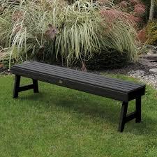 backless garden bench plans