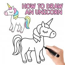 drawing step by step for beginners. Exellent Step How To Draw An Unicorn U2013 Easy And Cute Step By Drawing Tutorial For By Beginners T