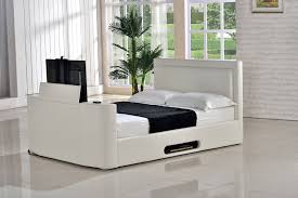 king size tv bed. Contemporary Bed Monaco King Size TV Bed U2013 Ivory For Tv S