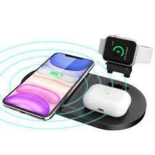 Đế sạc không dây Mazer Wi.DESK TRIO 3-in-1 Dual Wireless - Apple Watch  Wireless