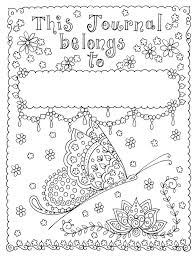 Journal With Coloring Pages Printable Journal Coloring Pages Instant