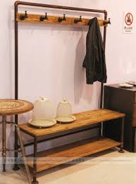 industrial style coat rack. American Country Style Retro Industrial Iron Coat Rack Hanger Hall Clothes Shoe Changing His Shoes Stoolin Cabinet Pulls From Home Improvement Inside