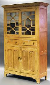 Kitchen Cabinets With Feet Antique Pine Kitchen Cabinet With Astral Glazed Cupboard Two