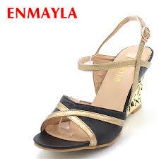 <b>ENMAYLA New Fashion</b> Wedges High Heels Sandals Women ...