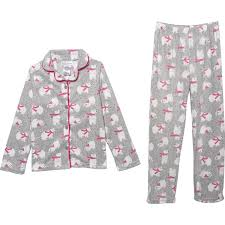 Chill Chasers By Cuddl Duds Polar Bear Pajamas For Big