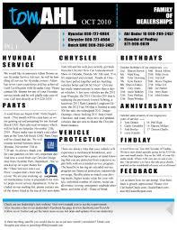 october newsletter ideas october newsletter tom ahl family of dealerships