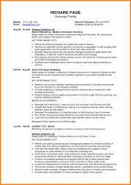 Profile Summary In Resume For Marketing New Professional Profile