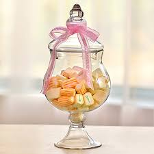 Decorative Glass Candy Jars Transparent Lid Storage Bottle Glass Candy Jars Ribbon Wedding 56