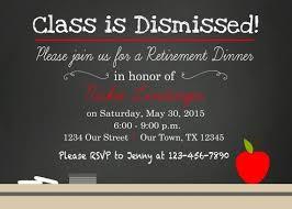 Chalkboard Teacher School Retirement Party Invitation Save