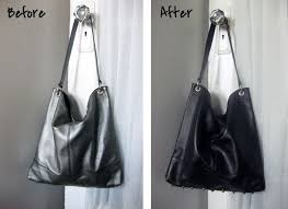 diy leather dye and studded purse