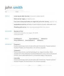 One Page Resume Template Adorable Styles One Page Resume Template Word Free Download Free Resume For