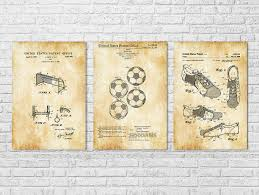soccer patent collection of 3 patent prints wall decor soccer art sports on wall decor prints with soccer patent collection of 3 patent prints wall decor soccer