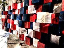 wood american flag rustic american