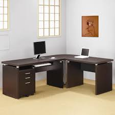 modern minimalist office computer. l dark brown wood computer desk with shelves and drawer complete furniture picture minimalist modern office o