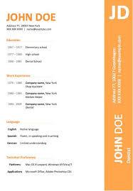 58 Fantastic Curriculum Vitae Template Free Download Resume Template