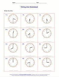Telling Time Worksheets For 1st Grade School Work Pinterest Grade ...