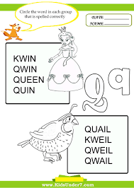 kids under 7 circle the correct spelling of q words 9fph4zcq