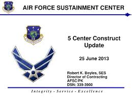Air Force Sustainment Center Org Chart Ppt 5 Center Construct Update 25 June 2013 Powerpoint