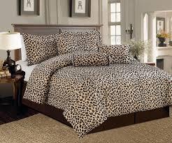 com legacy decor beautiful 7 pc leopard print faux fur king size comforter bedding set home kitchen
