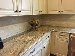 Granite With Backsplash Amazing Interior Cream Colored Backsplash Tile Best 48 Travertine Tile