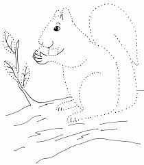 Start with horizontal dotted lines, they're easier than the vertical ones. Dot Drawing Squirrel Art Starts