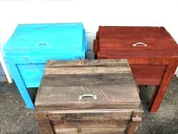 ice chest plans wooden designs wood pallet cooler design to make colorful outdoor coolers scooter refrigerator