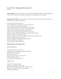 Clerk Job Description Resume Receiving Clerk Job Description Resume Resume For Study 37
