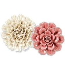 Intricate details give this sturdy resin wall art a delicate appearance. Wall Decor Ceramic Wall Flowers Rsh Catalog