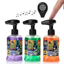 soap soundz set of 3 al holiday 8 5oz liquid hand soap dispenser pumps bathroom sink com
