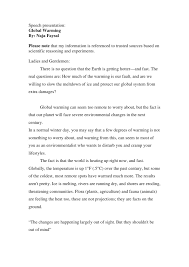 ndu term paper speech communication global warming speech presentation global warming by naja faysal please note that my information is referenced