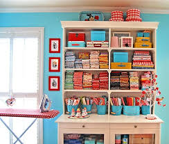 fabric storage shelves buckets