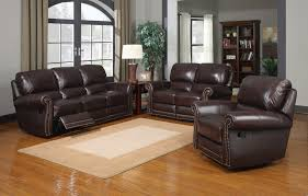 R Leather Italia USA Presidential M9922 James Reclining Livingroom Set In  2952C Tobacco