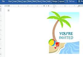 Party Invitation Template Word Microsoft Word Tea Party Invitation