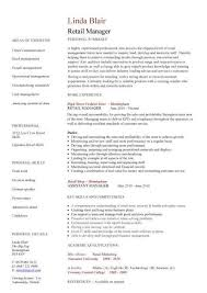 Sales Resume: Retail Sales Manager Job Description Retail Sales ...