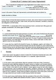 Free Commercial Lease Agreement Template Word Sample Pdf – Onbo Tenan